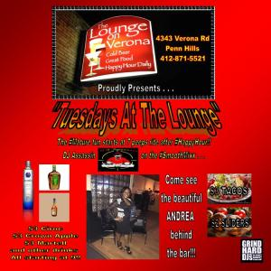 Tuesdays at The Lounge Flyer Updated 2015